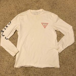 Guess Shirts - Used Guess White Long Sleeve Size Small